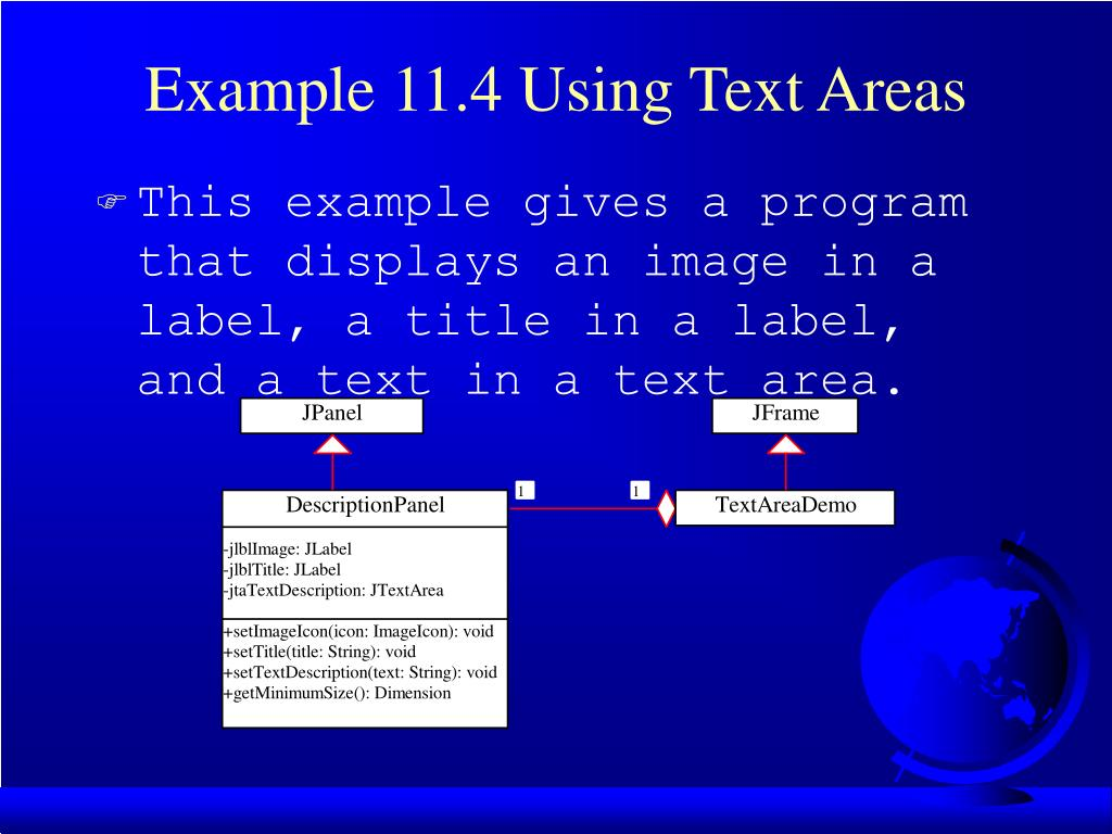 Example 11.4 Using Text Areas