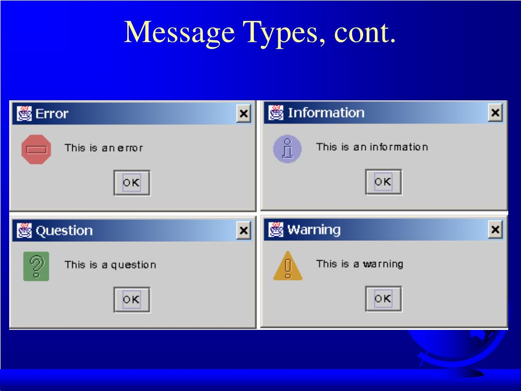Message Types, cont.