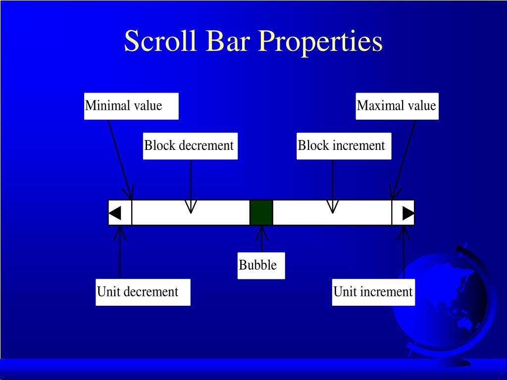 Scroll Bar Properties