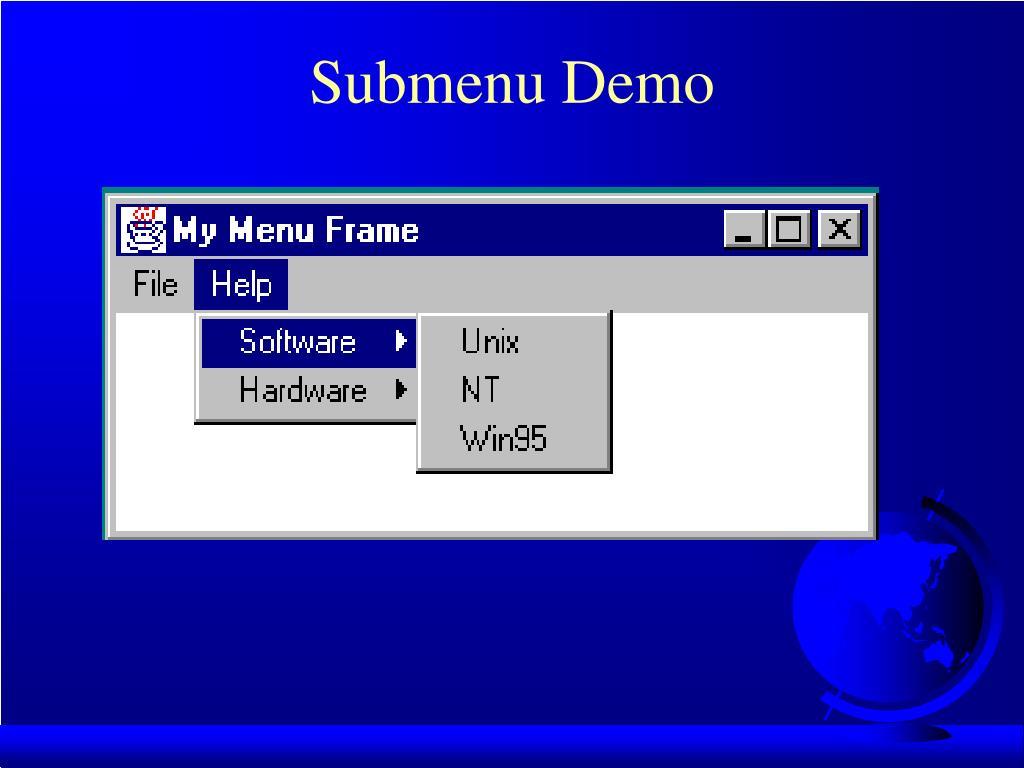 Submenu Demo