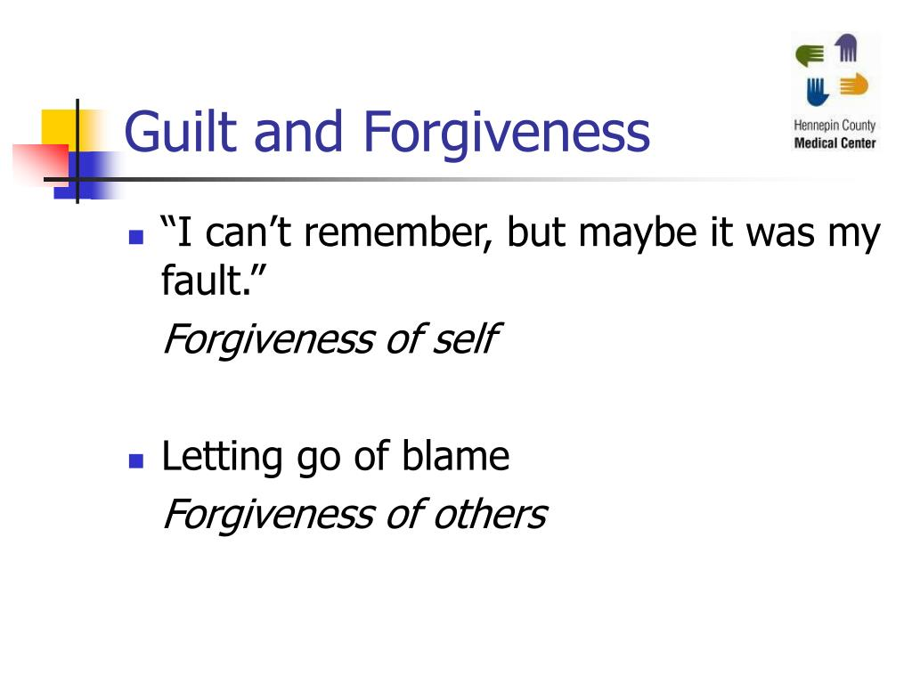 Guilt and Forgiveness