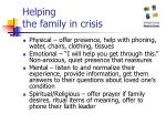 helping the family in crisis