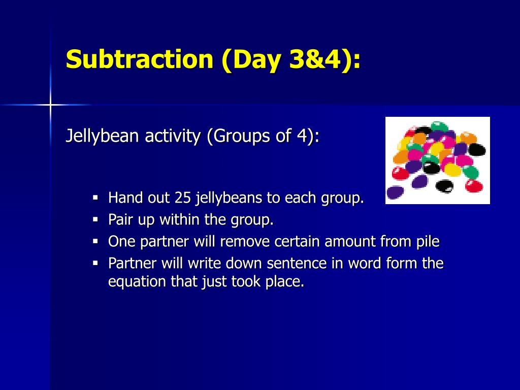 Subtraction (Day 3&4):