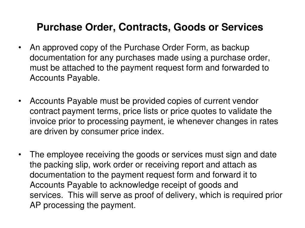 Purchase Order,