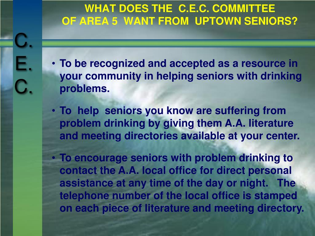 WHAT DOES THE  C.E.C. COMMITTEE