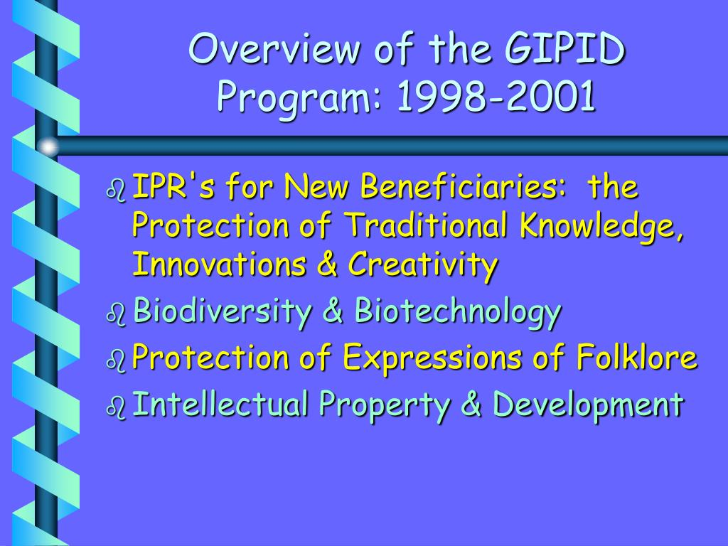 Overview of the GIPID Program: 1998-2001