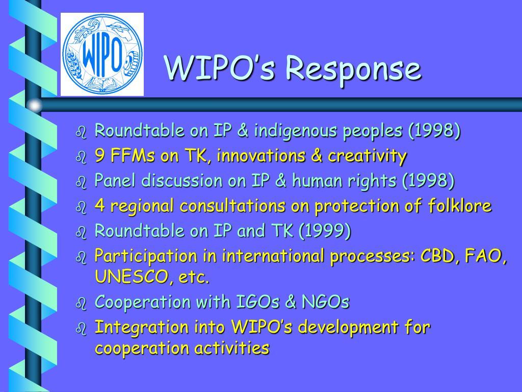 WIPO's Response
