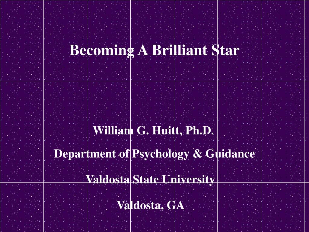 Becoming A Brilliant Star