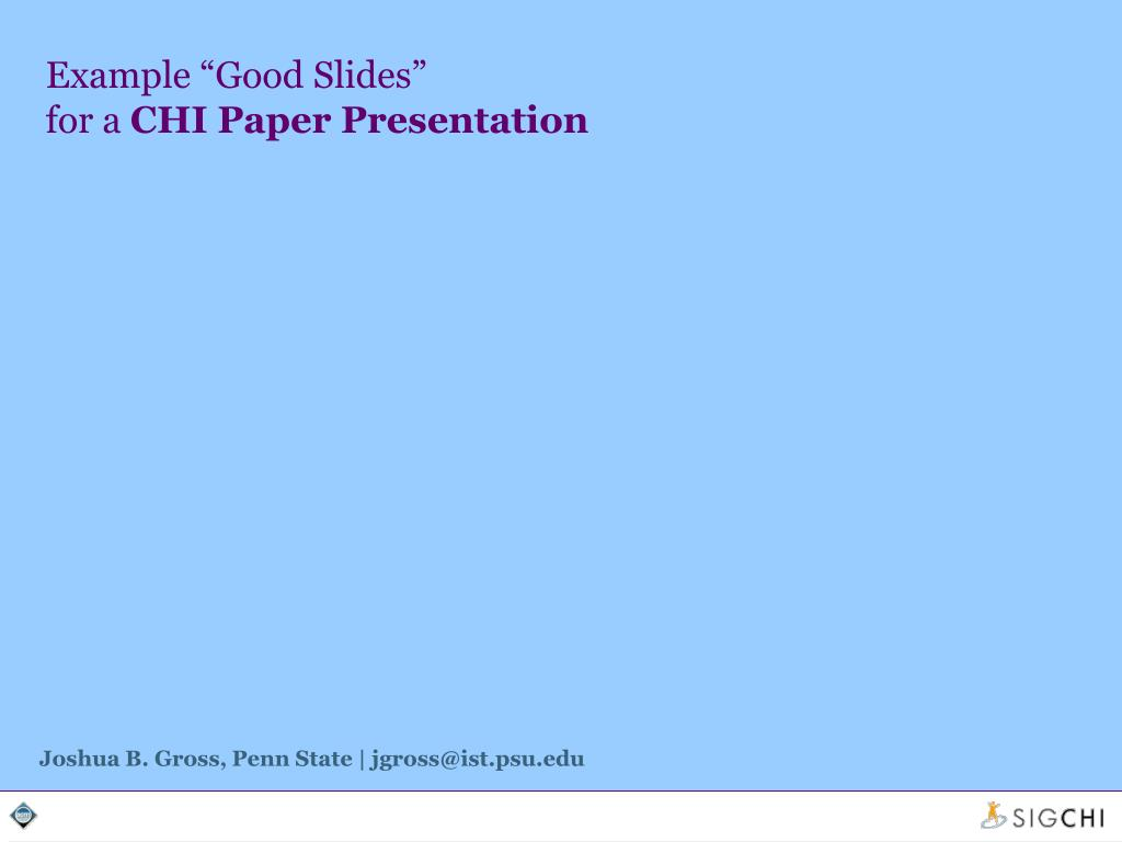 "Example ""Good Slides"""