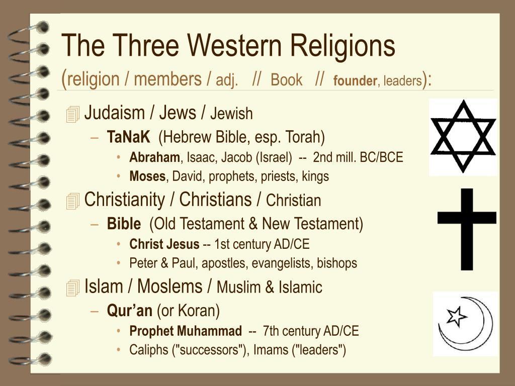 The Three Western Religions