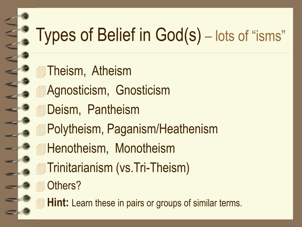 Types of Belief in God(s)