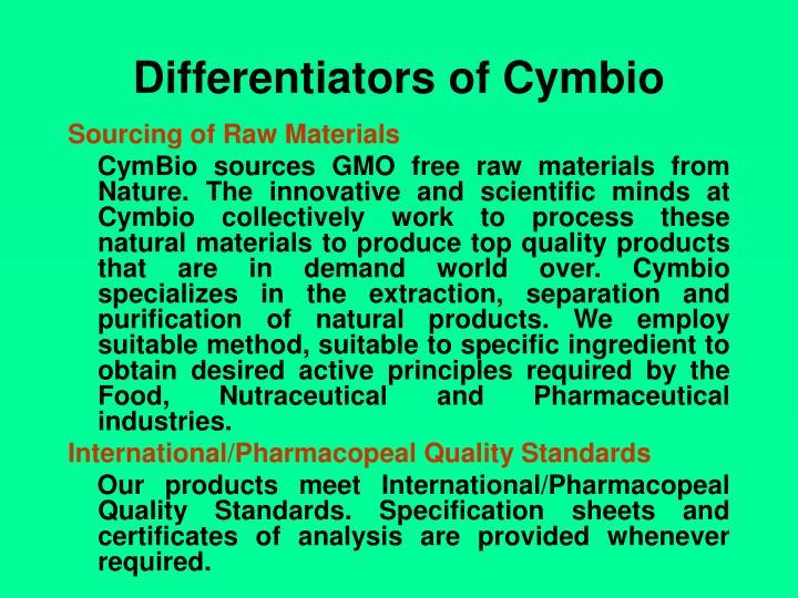 Differentiators of Cymbio