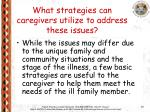 what strategies can caregivers utilize to address these issues