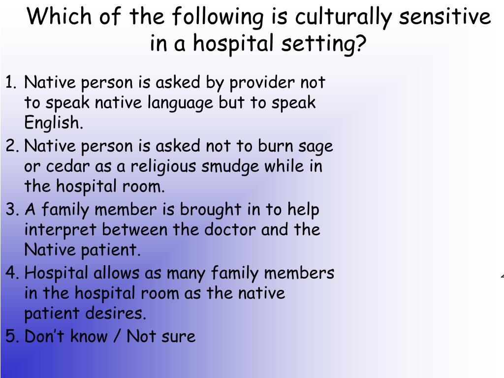 Native person is asked by provider not to speak native language but to speak English.