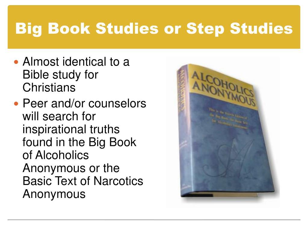 Big Book Studies or Step Studies