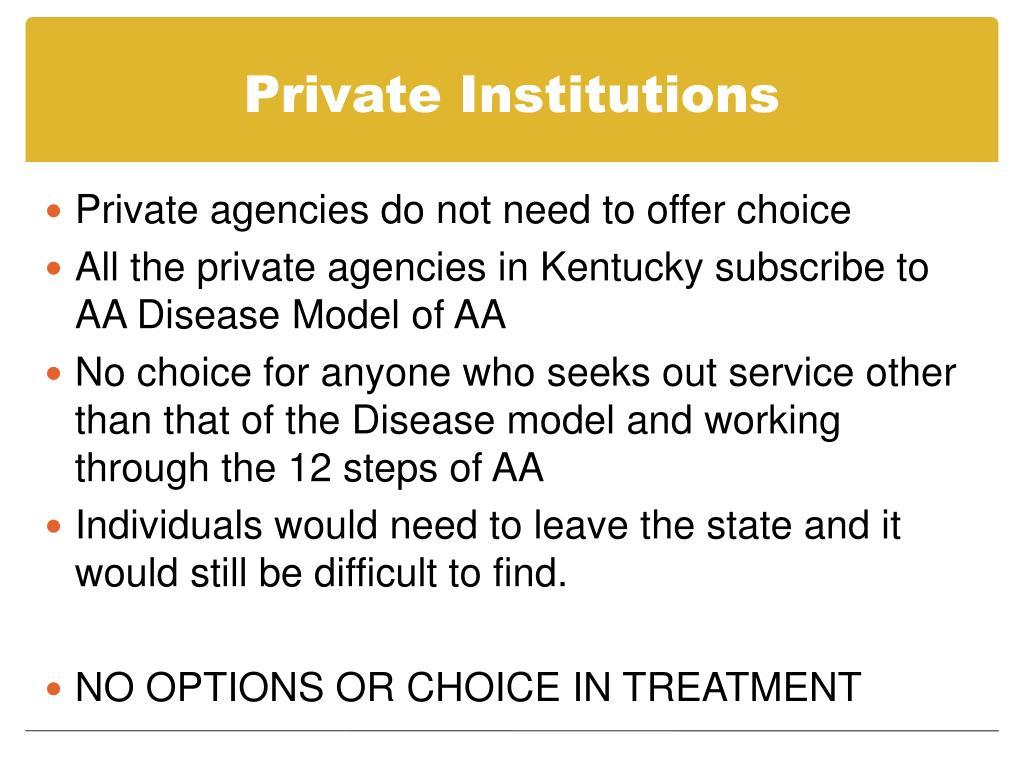 Private Institutions