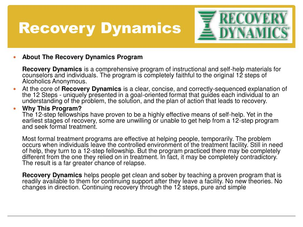 Recovery Dynamics