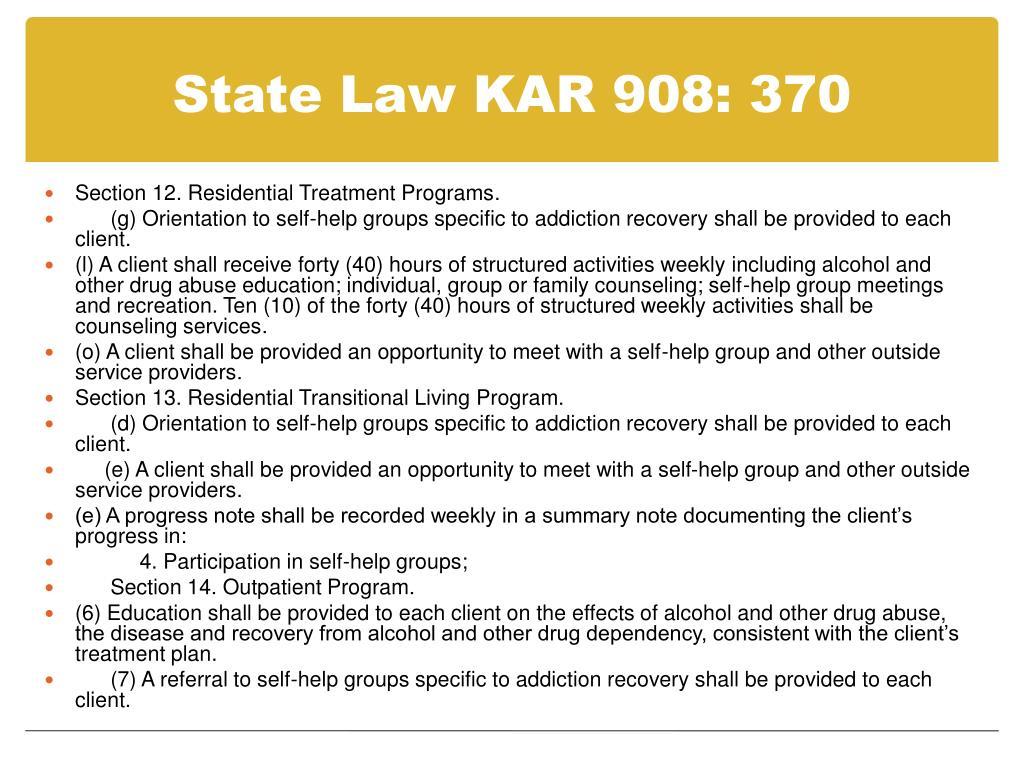State Law KAR 908: 370