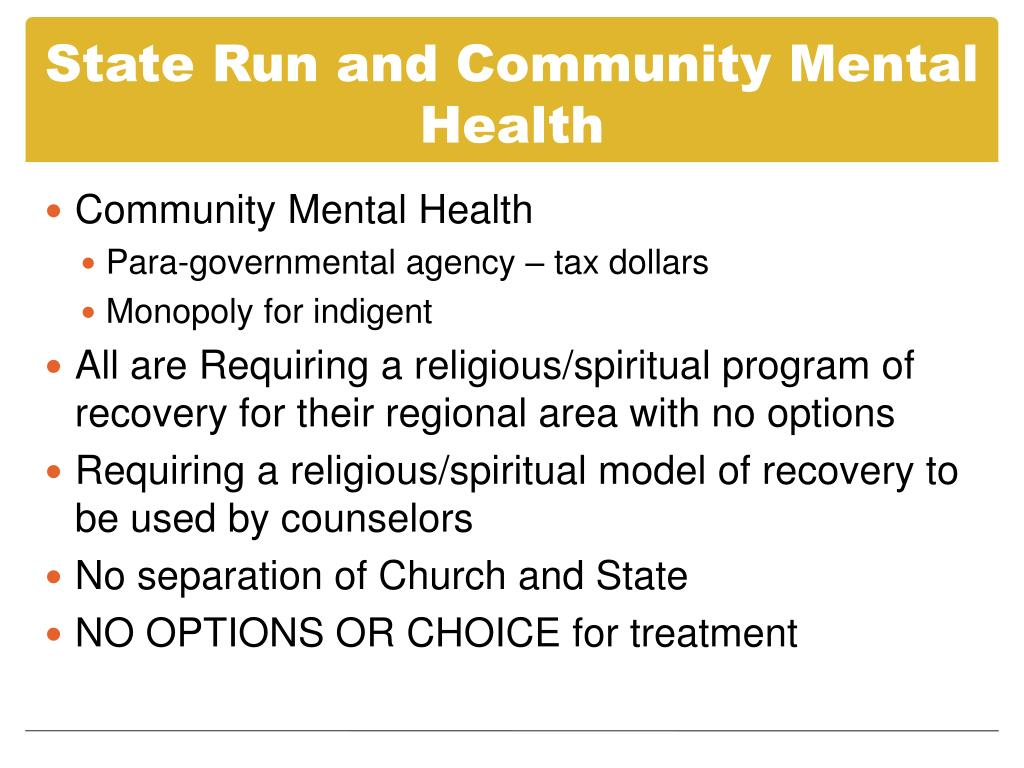 State Run and Community Mental Health