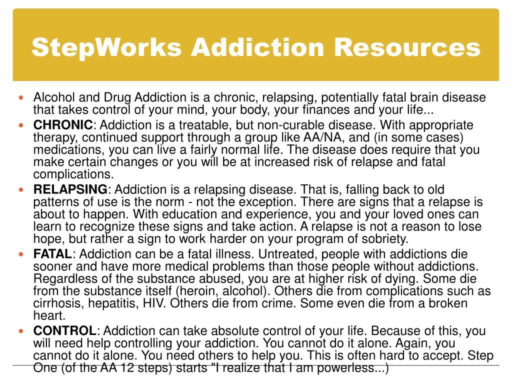 StepWorks Addiction Resources