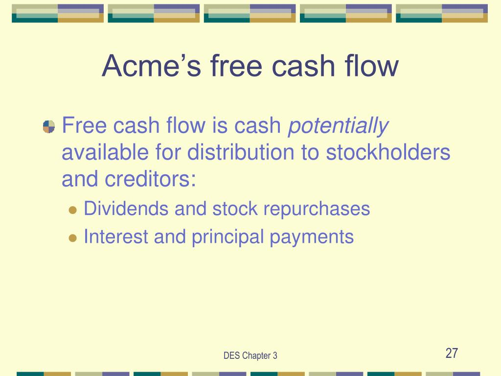 Acme's free cash flow