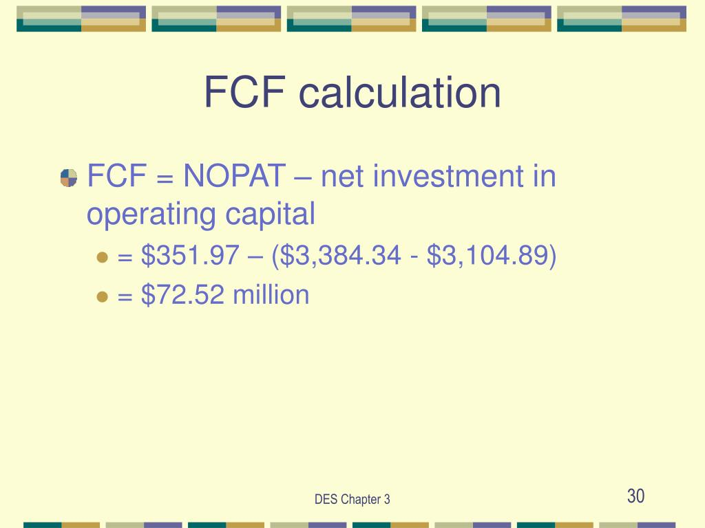 FCF calculation