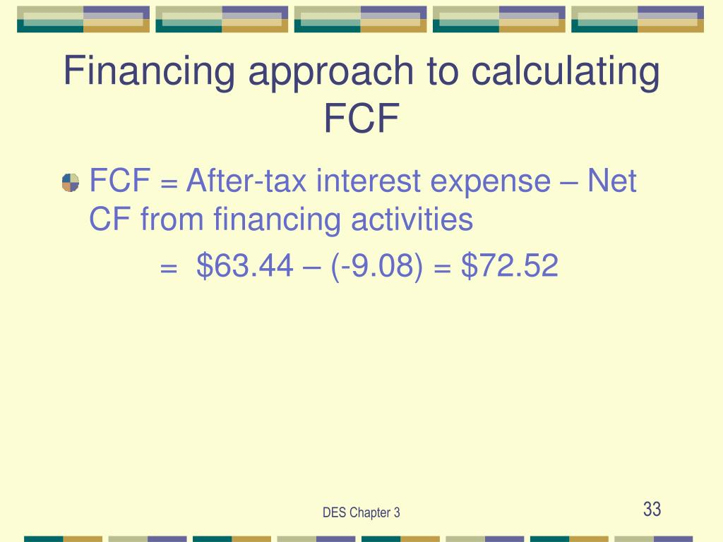Financing approach to calculating FCF
