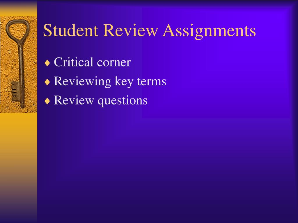 Student Review Assignments