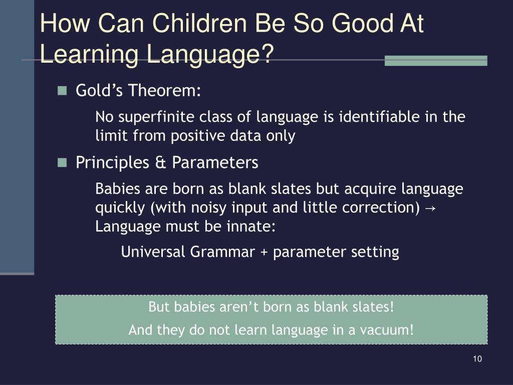 Gold's Theorem: