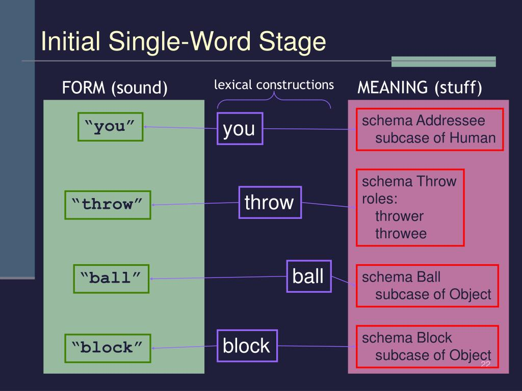 Initial Single-Word Stage