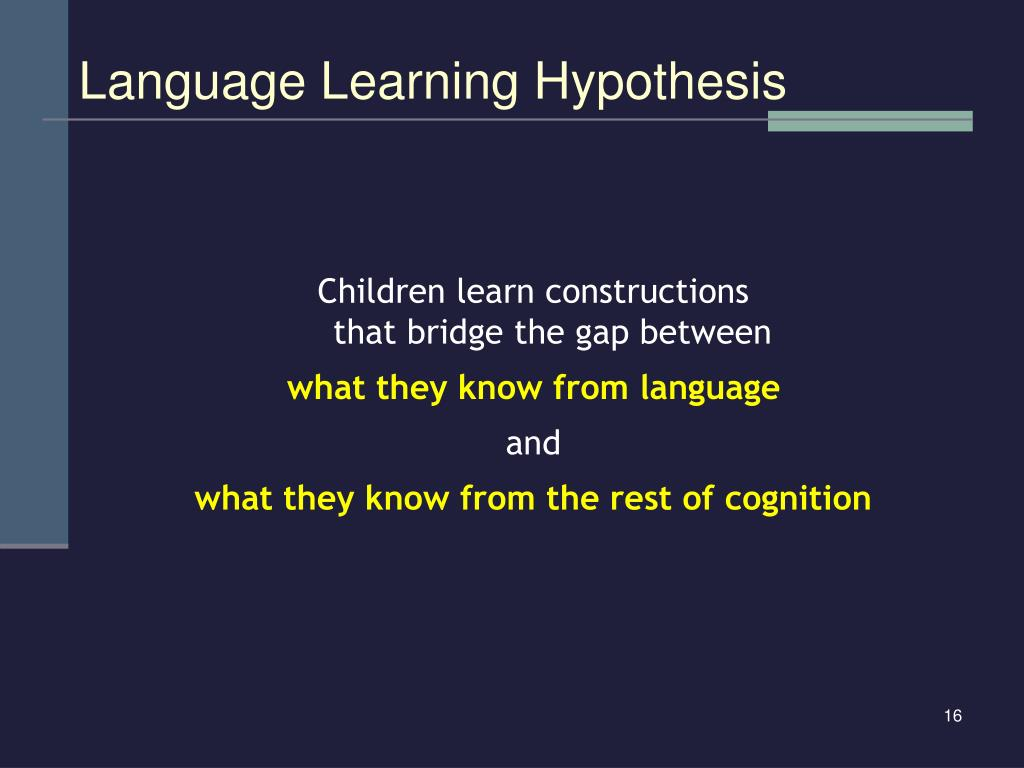 Language Learning Hypothesis