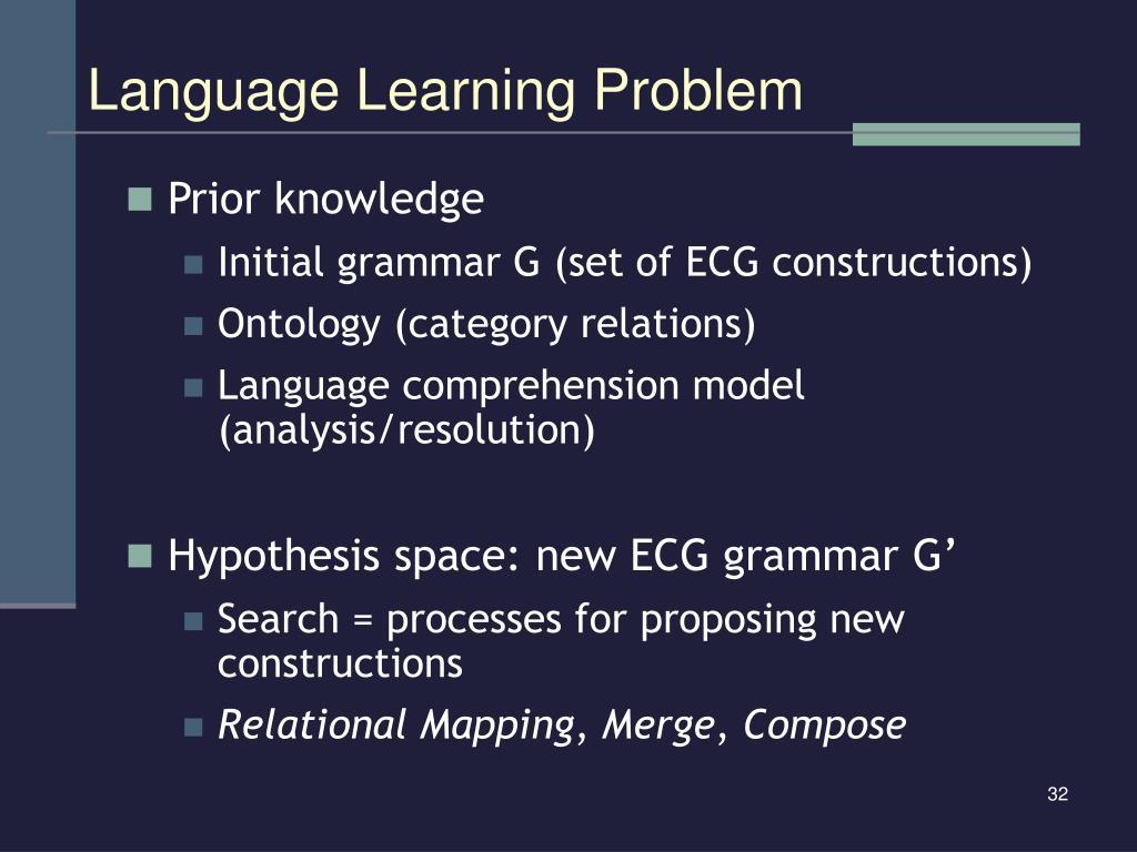 Language Learning Problem