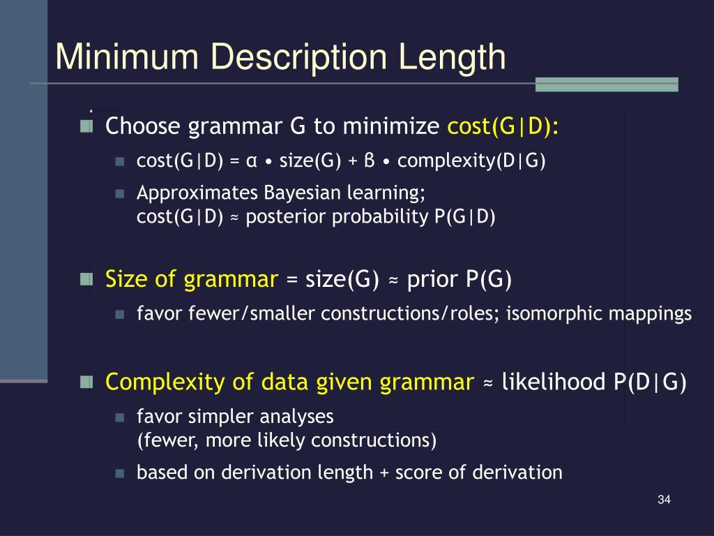 Minimum Description Length