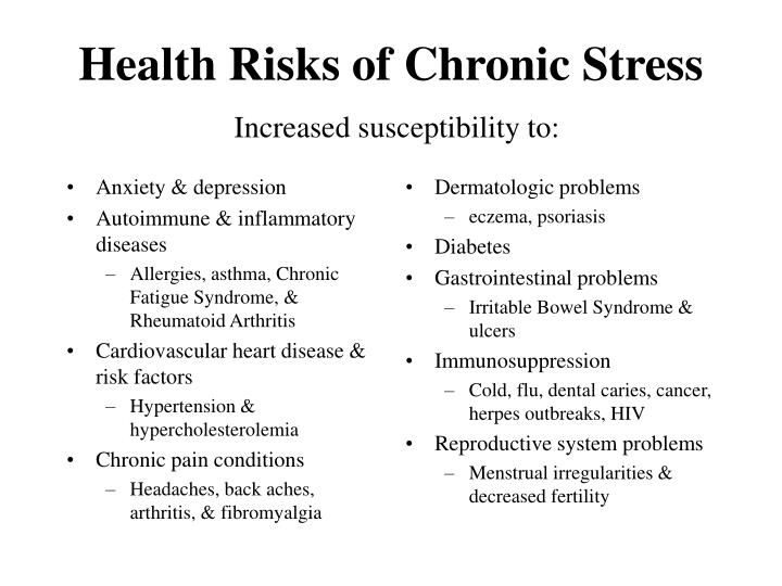 Health risks of chronic stress increased susceptibility to l.jpg