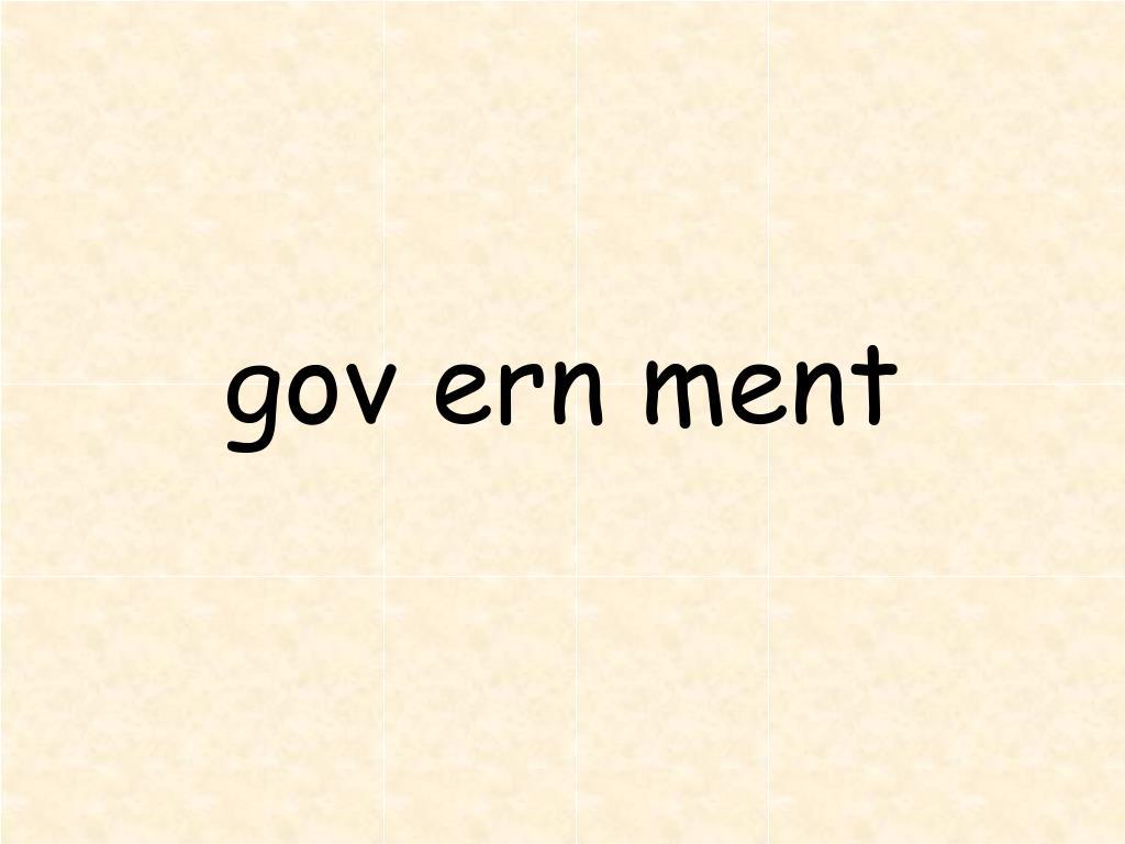 gov ern ment