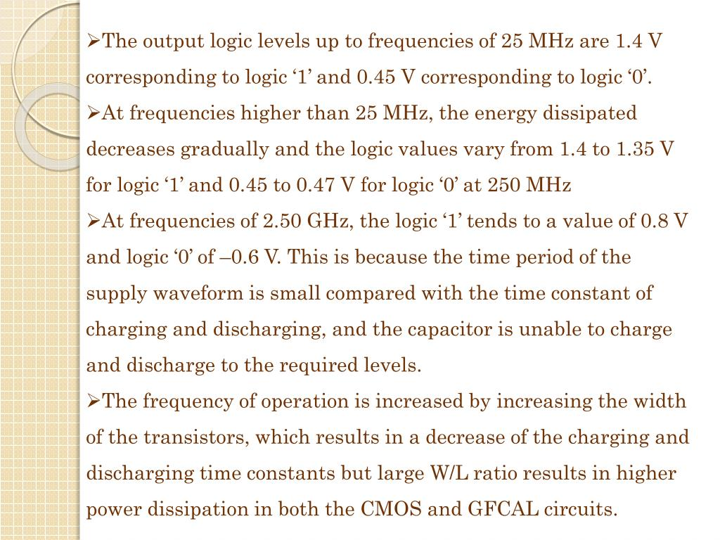 The output logic levels up to frequencies of 25 MHz are 1.4 V