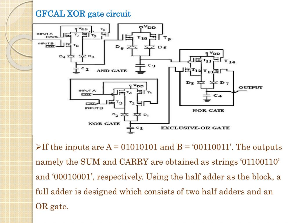 GFCAL XOR gate circuit