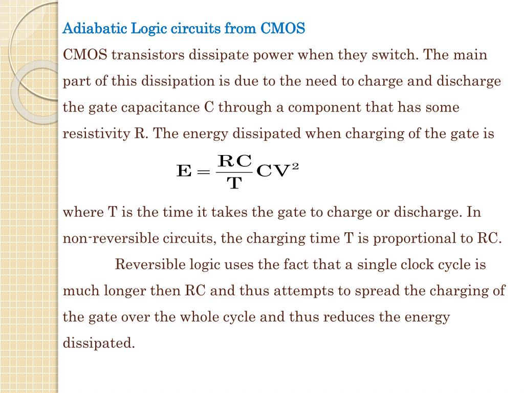 Adiabatic Logic circuits from CMOS