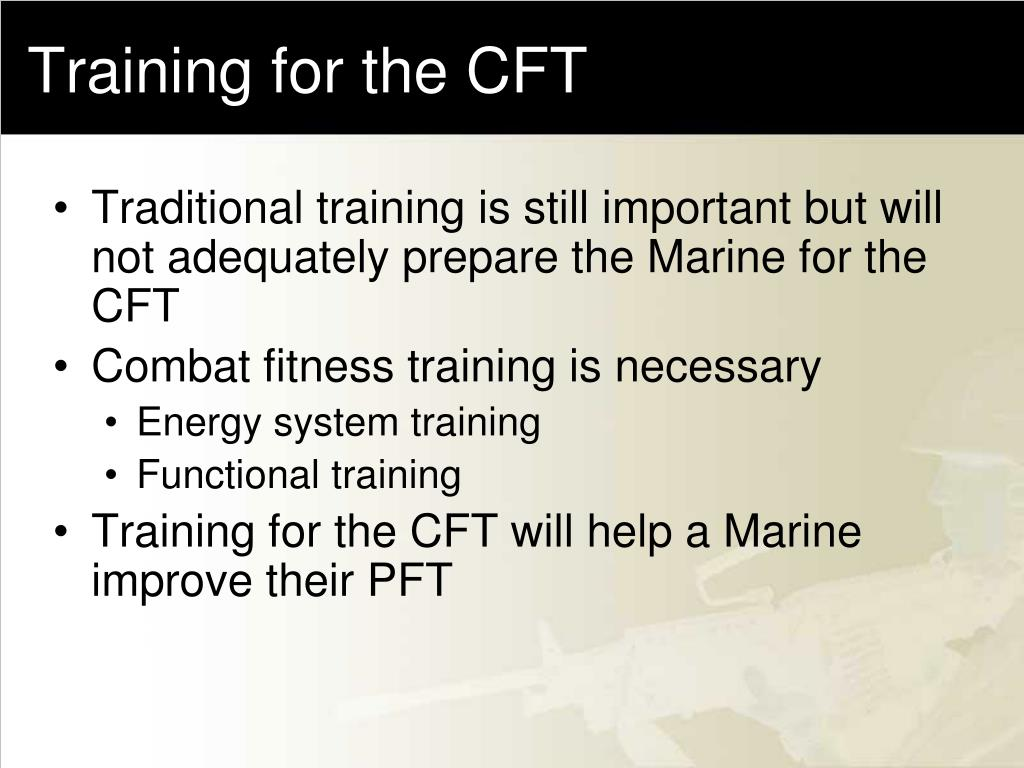 Training for the CFT