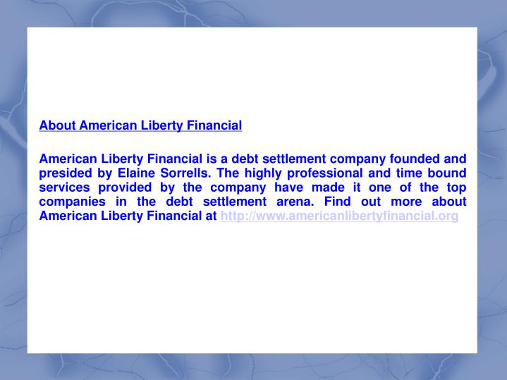 About American Liberty Financial