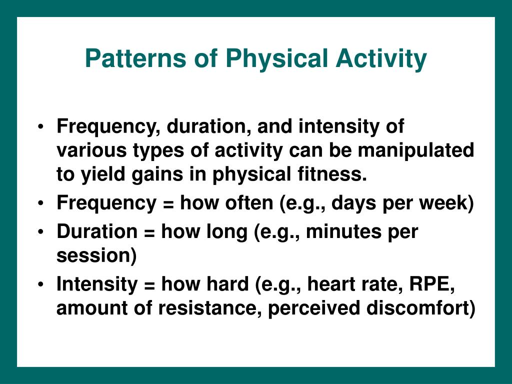 Patterns of Physical Activity
