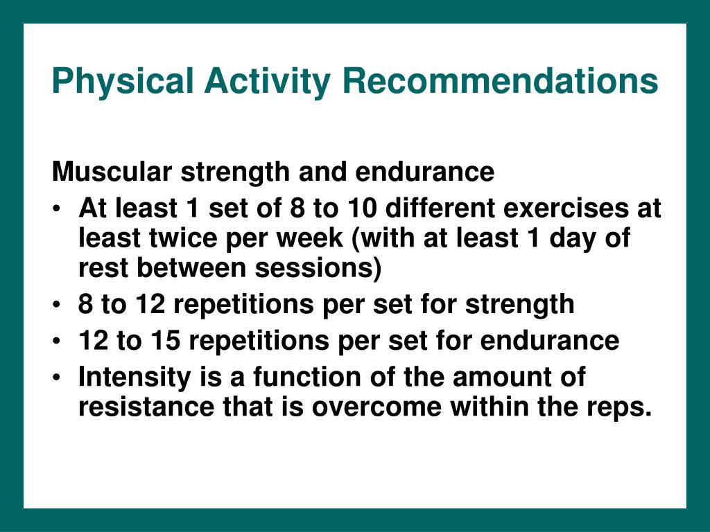 Physical Activity Recommendations