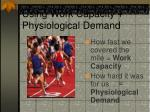 using work capacity physiological demand