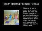 health related physical fitness