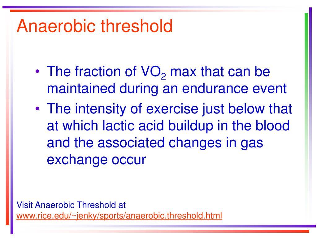 Anaerobic threshold