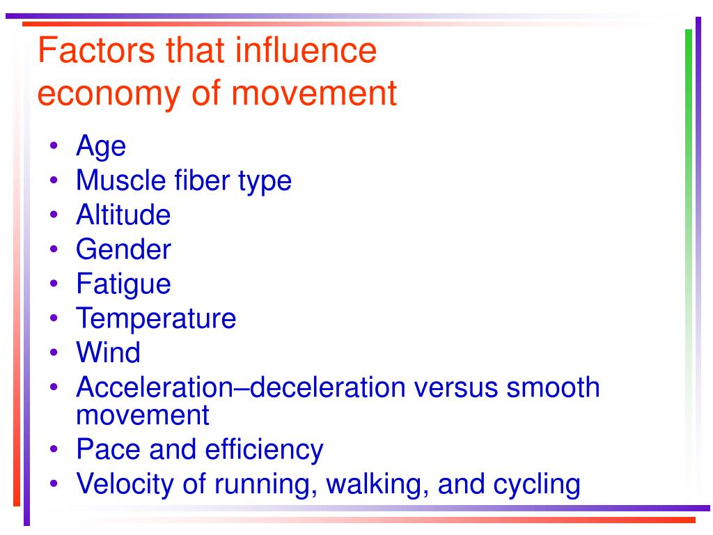 Factors that influence