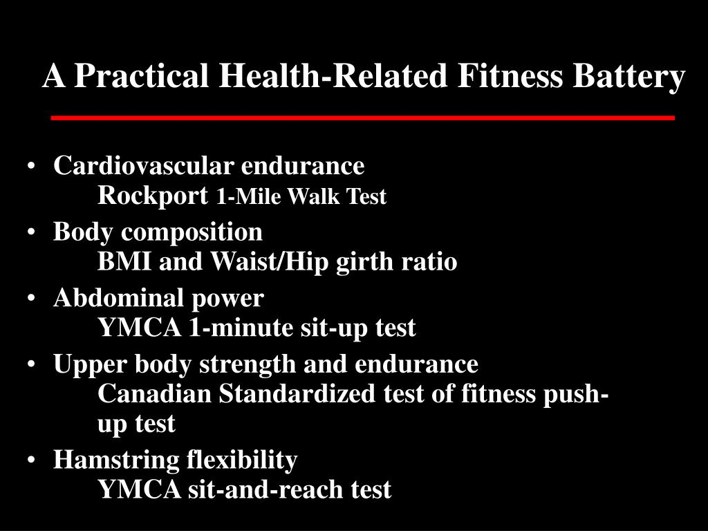 A Practical Health-Related Fitness Battery