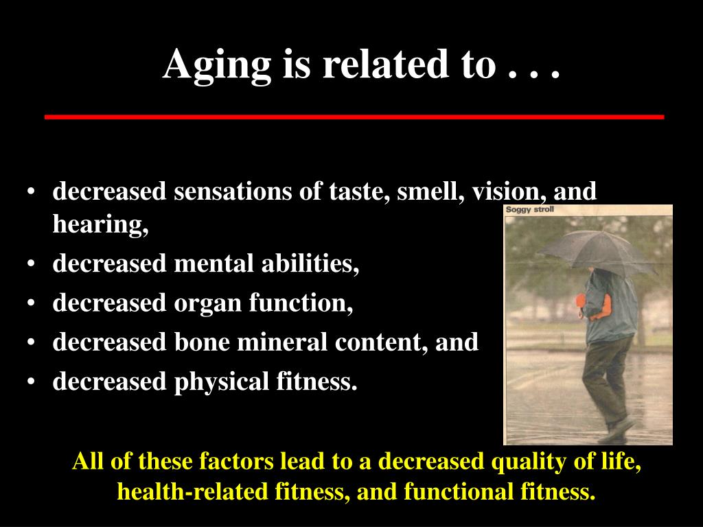 Aging is related to . . .