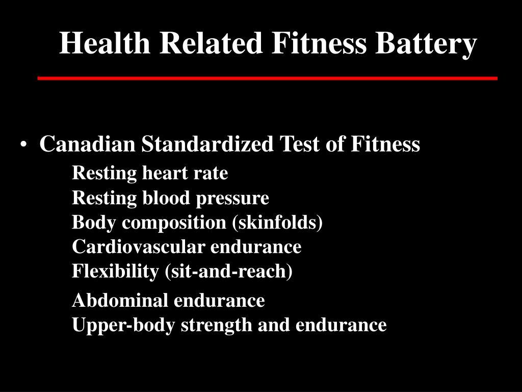Health Related Fitness Battery