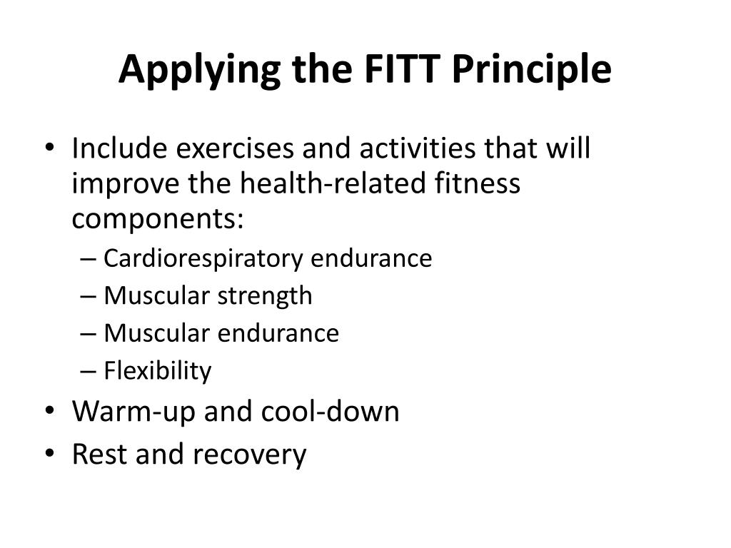 Applying the FITT Principle